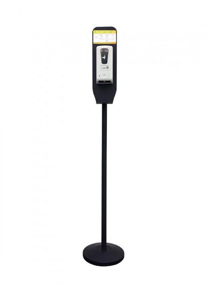 Handdesinfektionsstation Premium   weiß   bedruckt