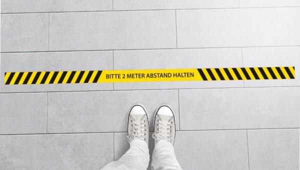 Aufkleber Abstand   Standard   200 cm x 8 cm
