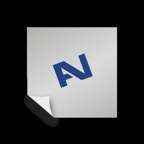 Aufkleber Polymer - weiß oder transparent