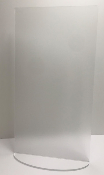 Niesschutz stehend senkrecht | 45 cm breit ohne Ausschnitt | Plottschrift