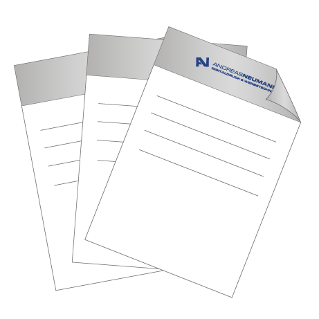 Briefpapier HKS | DIN A3 einseitig | 2/0-farbig