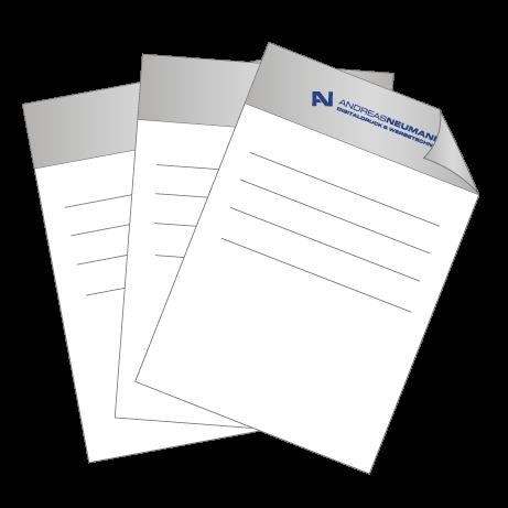 Briefpapier Pantone | DIN A4 beidseitig | 3/1-farbig