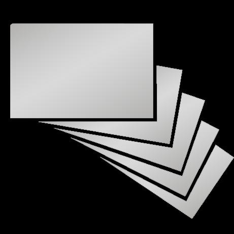 Visitenkarten   partieller UV-Lack einseitig mit beidseitiger folienkaschierung   beidseitig