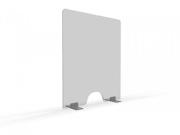 Niesschutz stehend senkrecht | 74 cm breit mit Warenausschnitt | unbedruckt